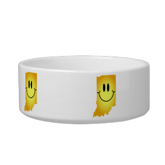 Indiana Smiley Face Bowl