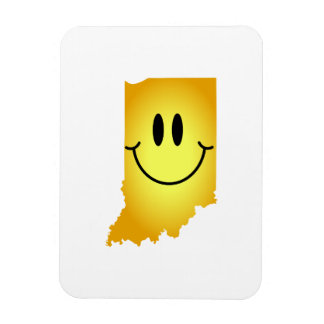 Indiana Smiley Face Magnet