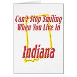 Indiana - sonriendo felicitacion