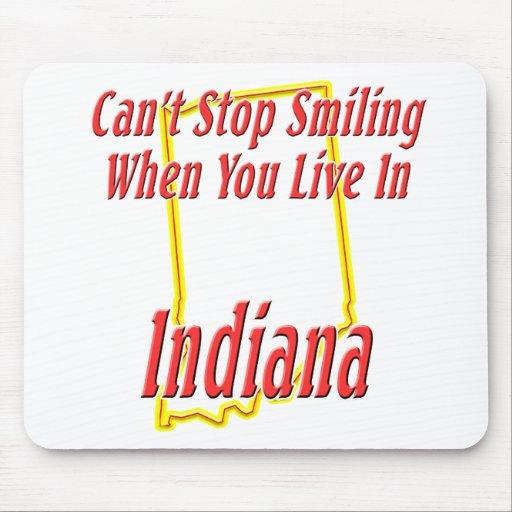 Indiana - sonriendo tapete de ratones
