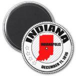 Indiana Stamp Refrigerator Magnet