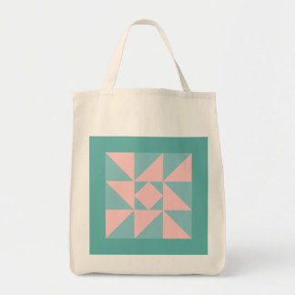 Indiana Star Quilt Pattern Grocery Tote