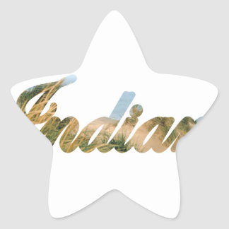 Indiana Star Sticker