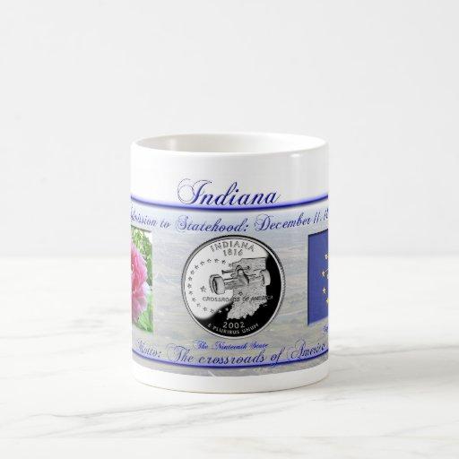 Indiana State Commemorative Classic White Coffee Mug
