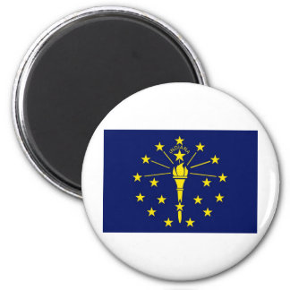 Indiana State Flag 2 Inch Round Magnet