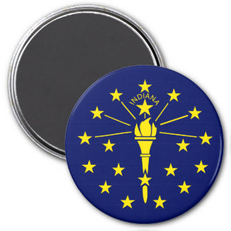 Indiana State Flag 3 Inch Round Magnet