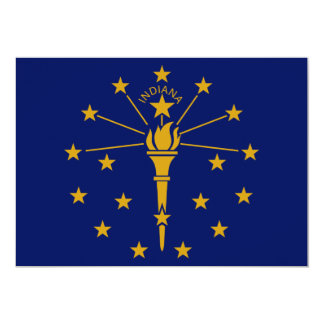 Indiana State Flag 5x7 Paper Invitation Card