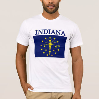 Indiana State Flag American Apparel T-shirt