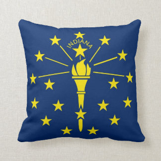 Indiana State Flag American MoJo Pillow
