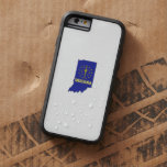 Indiana State Flag and Map Tough Xtreme iPhone 6 Case