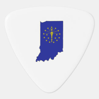 Indiana State Flag and Map Pick
