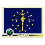 Indiana State Flag and Seal Postcard