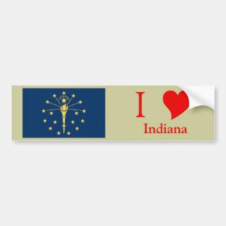Indiana State Flag Car Bumper Sticker