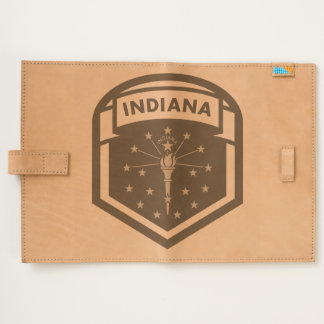 Indiana State Flag Coat Of Arms Style Journal