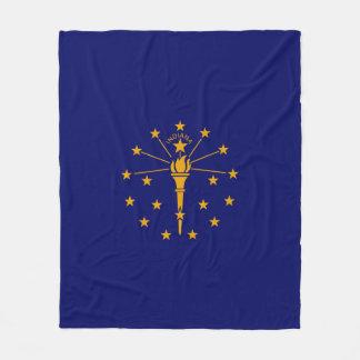 Indiana State Flag Design Fleece Blanket