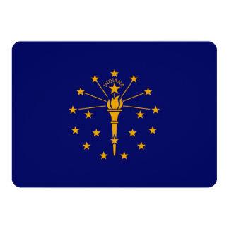 Indiana State Flag Design 5x7 Paper Invitation Card