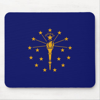 Indiana State Flag Design Mouse Pad
