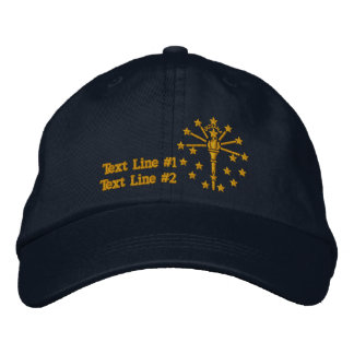 Indiana State Flag Design Personalize it Embroidered Baseball Hat