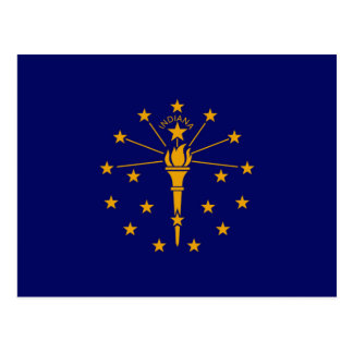 Indiana State Flag Design Postcard