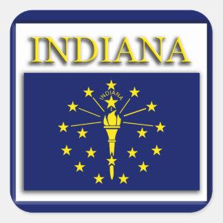 Indiana State Flag Design Sticker