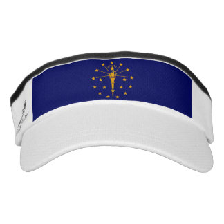 Indiana State Flag Design Visor