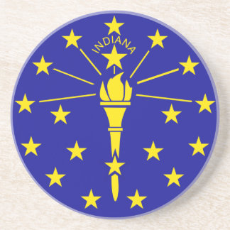 Indiana State Flag Drink Coaster