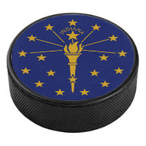 Indiana State Flag Hockey Puck