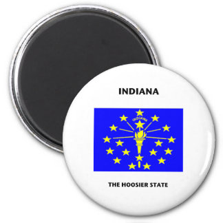 Indiana State Flag Hoosier 2 Inch Round Magnet