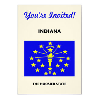 Indiana State Flag Hoosier 5x7 Paper Invitation Card