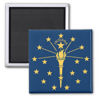 Indiana State Flag Refrigerator Magnet