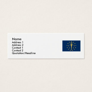 Indiana State Flag Mini Business Card