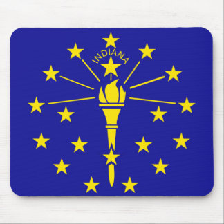 Indiana State Flag Mouse Pad