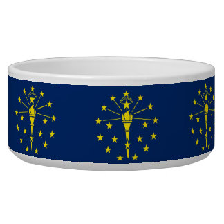Indiana State Flag Pet Bowl