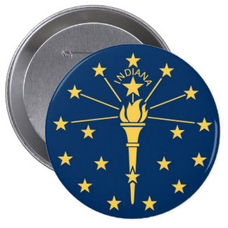 Indiana State Flag Pinback Button