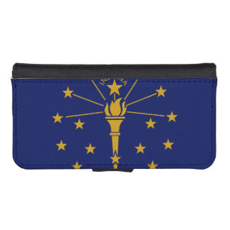 Indiana State Flag iPhone 5 Wallet Cases