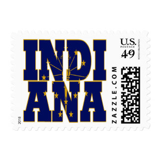 Indiana state flag text postage