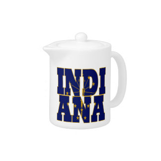 Indiana state flag text teapot