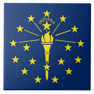 Indiana State Flag Tile