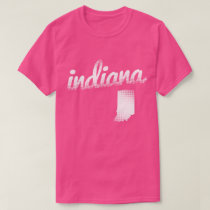 Indiana state in white T-Shirt