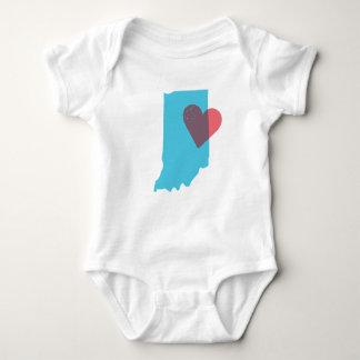 Indiana State Love Baby Shirt