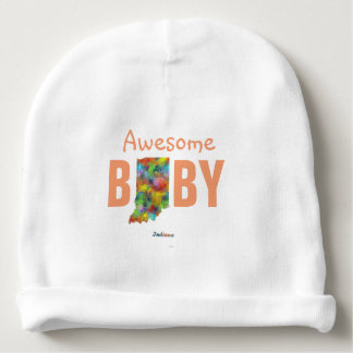 INDIANA STATE MAP - BABY BEANIE