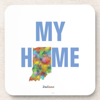 INDIANA STATE MAP - BEVERAGE COASTER