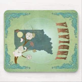 Indiana State Map – Green Mouse Pad