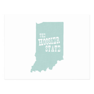 Indiana State Motto Slogan Postcard