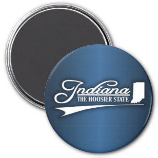 Indiana State of Mine 3 Inch Round Magnet