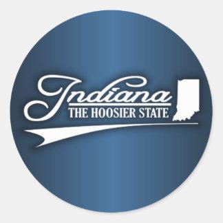 Indiana State of Mine Classic Round Sticker