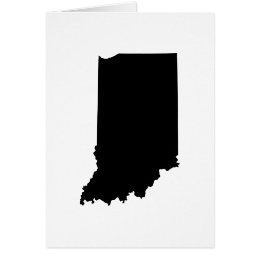 Indiana state outline greeting card