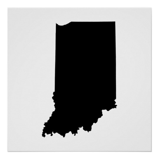 Indiana State Outline Poster Zazzle Com