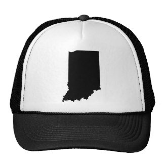 Indiana State Outline Trucker Hat