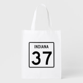 Indiana State Road 37 Reusable Grocery Bag